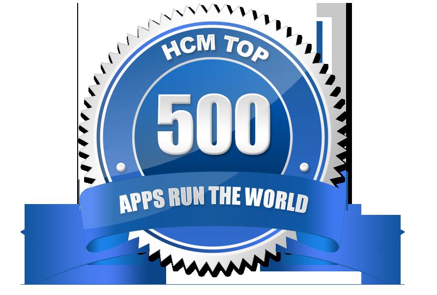 Selo de premiação TOP 500 HCM